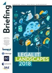 Briefing Legal IT landscapes 2018 cover