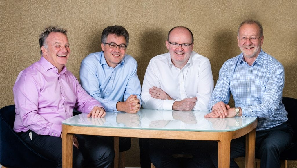 Mike Bailey, Christopher Young, Kevin Smith and Neil Renfrew from Pinnacle