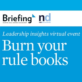 Feature image for Burn your rule books event sponsored by NetDocuments
